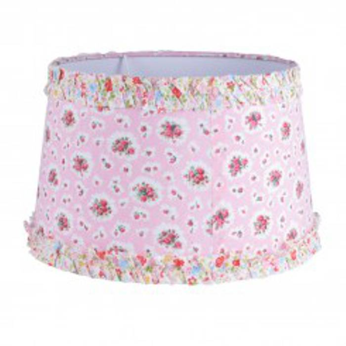Fleur Lampshade Pink & Ditsy Ruffle