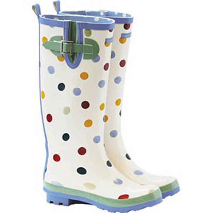 Polka Dot Welly With Clasp