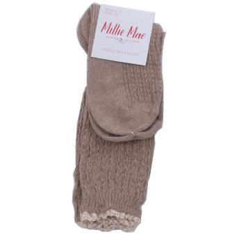 Fine knit sock beige